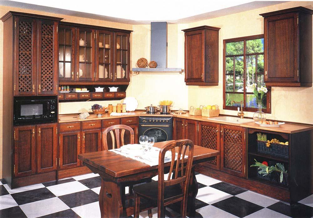 Cocina madera roble 20 muebles san miguel for Cocinas de madera de roble