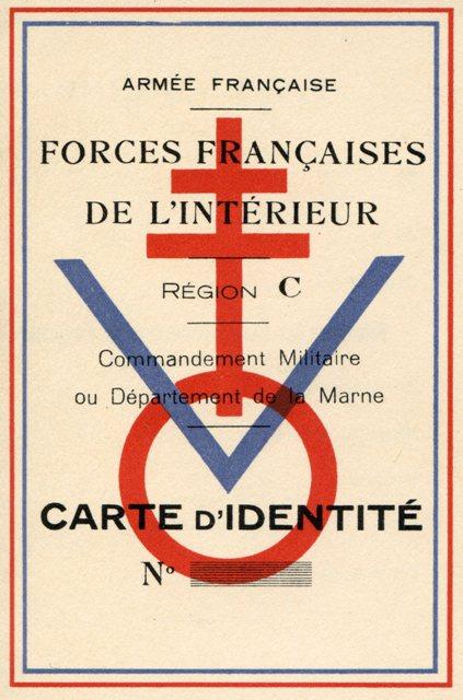 51 carte d 39 identit vierge des forces fran aises de l for La resistance interieur