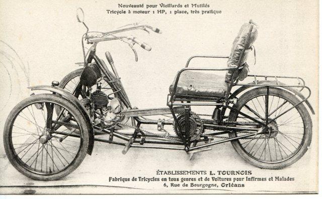 orleans 42 etablissements tournois tricycle moteur pour vieillards et mutil s. Black Bedroom Furniture Sets. Home Design Ideas