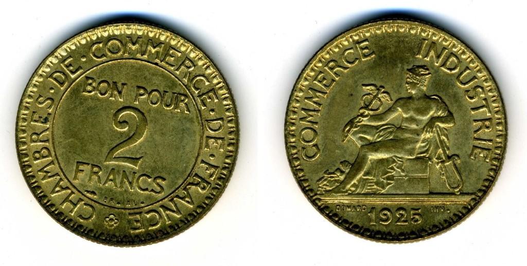 1925 g 533 2 francs chambre de commerce domard for Bon pour 2 francs 1925 chambre commerce