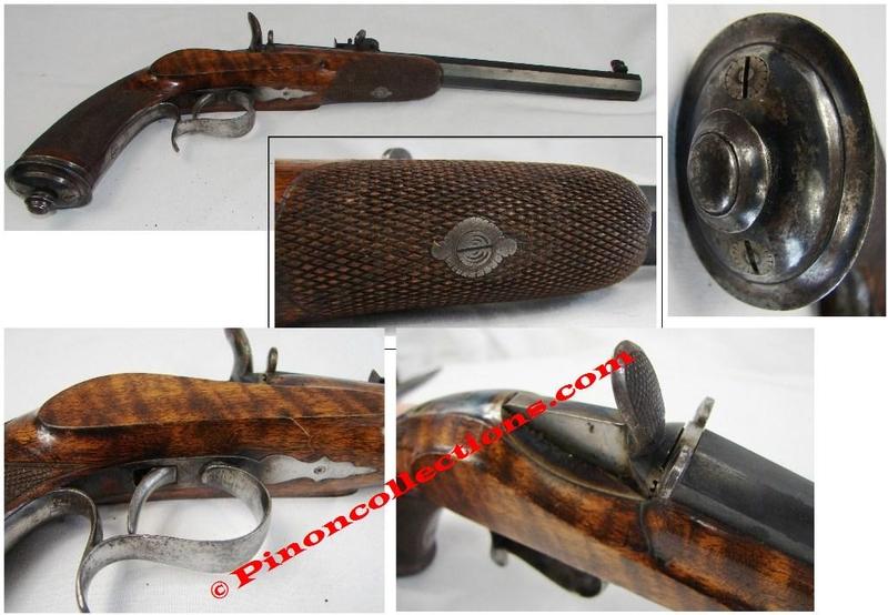 Pistolet de tir de salon 19e tr s belle fabrication for Pistolet de salon