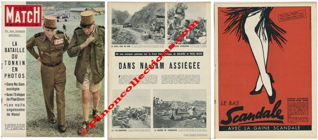 paris match n 194 du 29 novembre au 6 d cembre 1952 la bataille du tonkin en photos. Black Bedroom Furniture Sets. Home Design Ideas