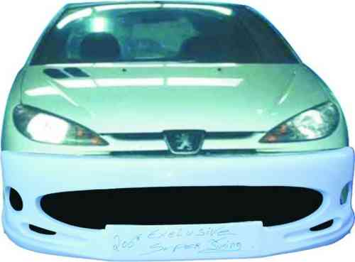BUMPERS PEUGEOT 206 SUPER TUNING FRONT