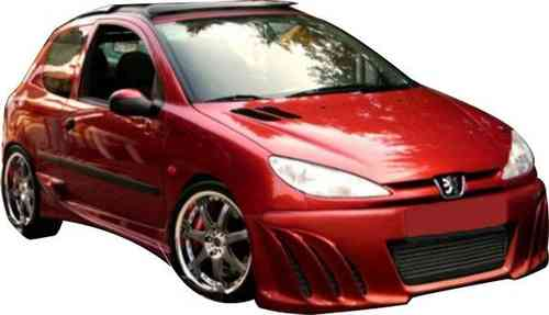 BUMPERS PEUGEOT 206 SHARK FRONT
