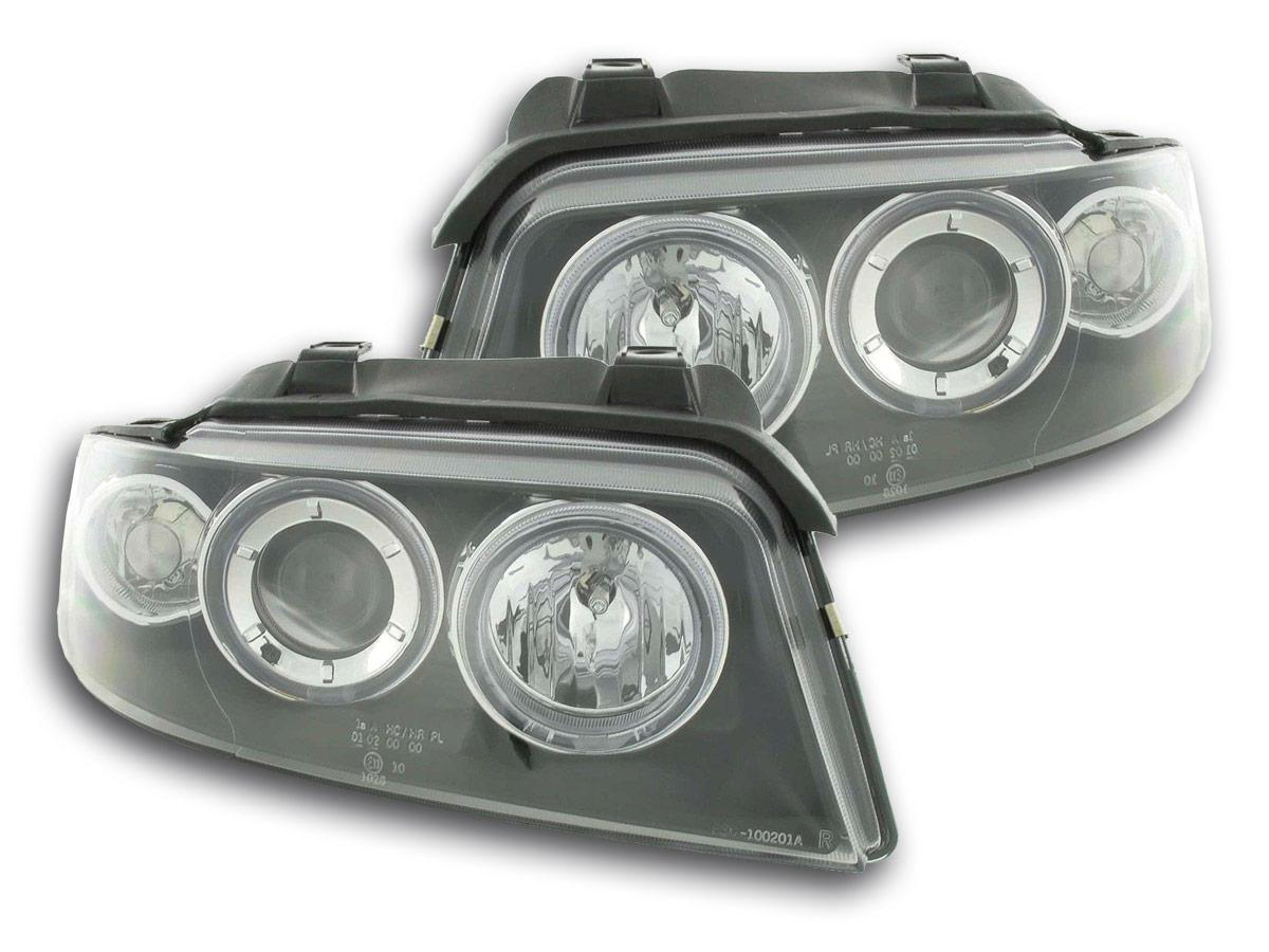 HEADLIGHT SET AUDI A4 TYP B5 YR. 99-01 BLACK