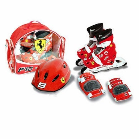 TOY FERRARI PATINES+KIT PROTECION