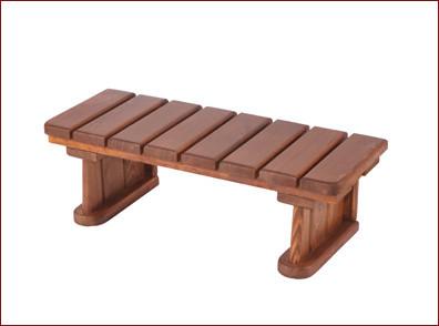 Escalera de madera para pérgolas de 1 escalón