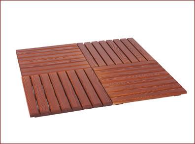Suelo de madera para pérgolas 3.5 x 3.5 m