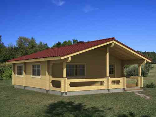Casa de madera modelo Ingrid