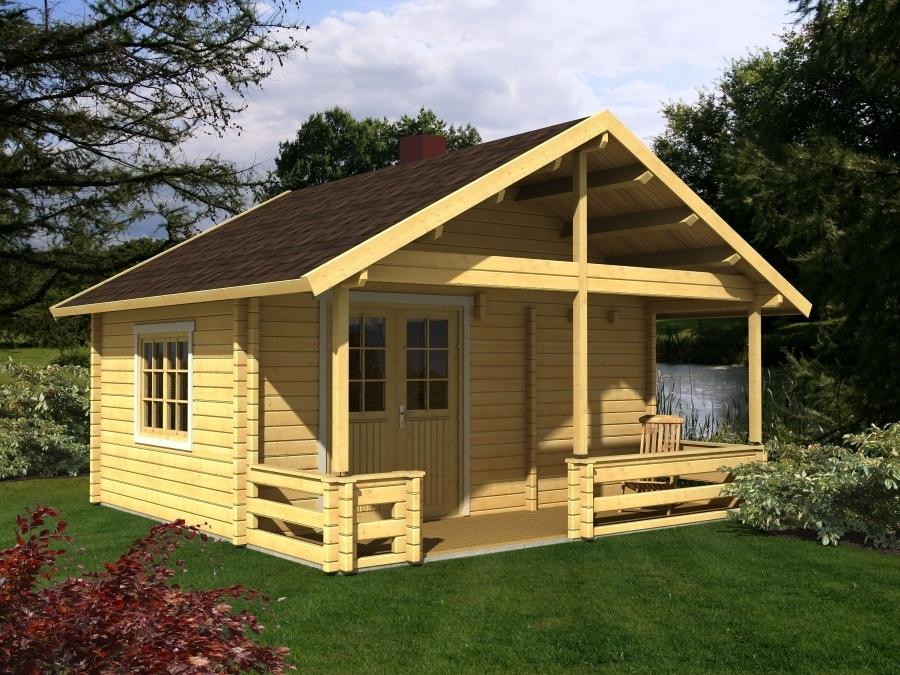 Caseta de madera con porche Leila