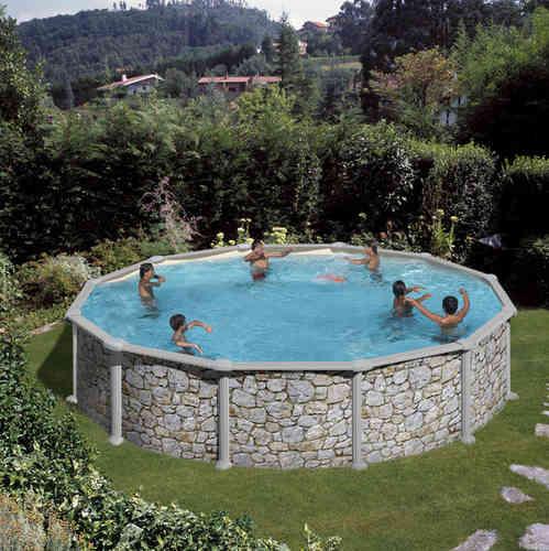 Piscina desmontable circular Skyathos de 4,6 m Ø