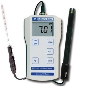 Portable pH Meter and Temperature
