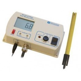 Continuous pH meter with alarm