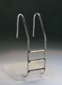 Escalera para piscinas en acero AISI-316
