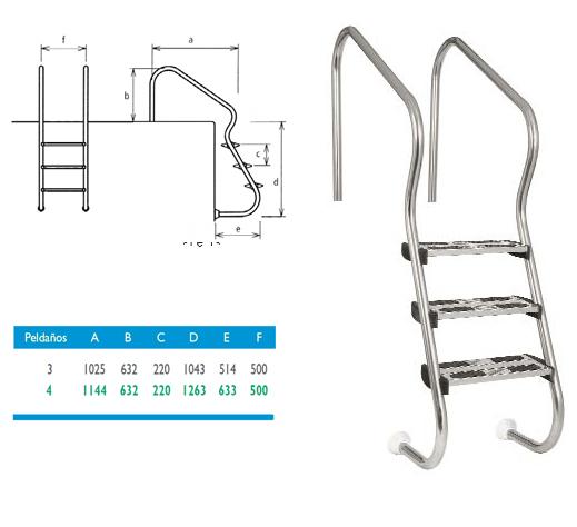Escalera para piscinas de acceso fácil