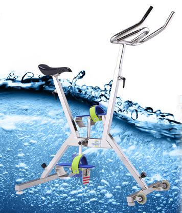 Aquabike. Bicicleta para spinning acuático
