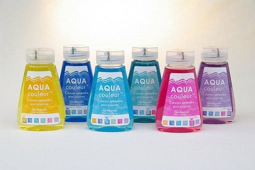 Tinte de colores para piscinas y spas