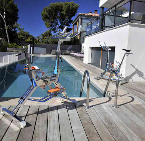 Bicicleta estática acuática para ejercicio intenso