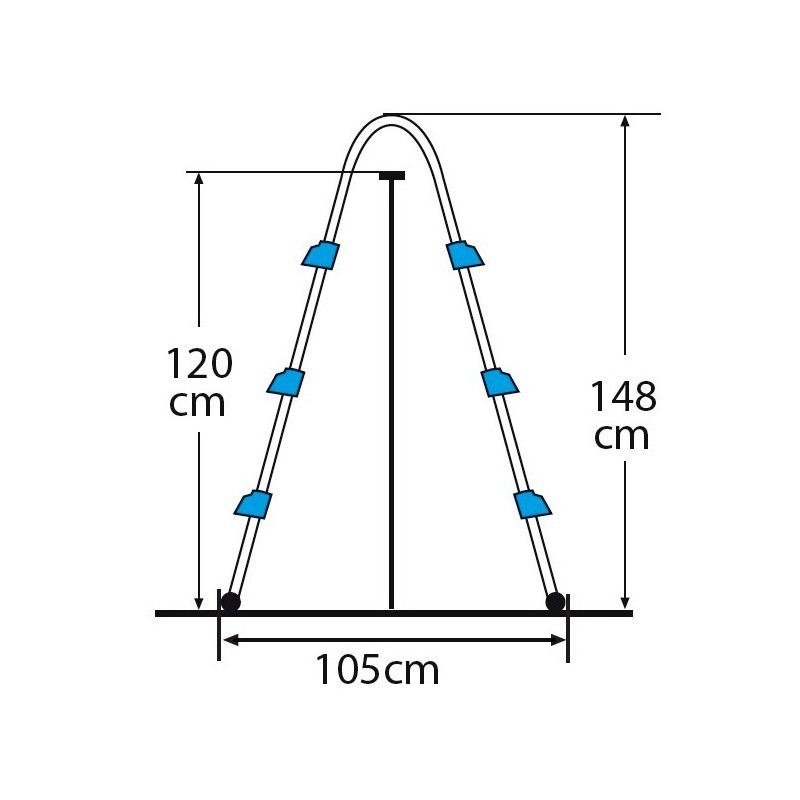 Escalera tipo tijera de 2 x 3 peldaños