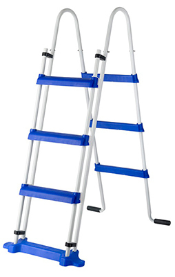 Ladder safety is 1.20 m and 2 x 3 steps
