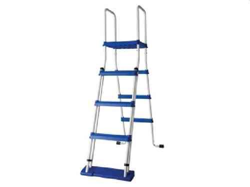 Safety ladder with platform