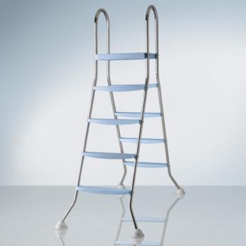 Escalera de acero inox. 2x4 escalones + plataforma