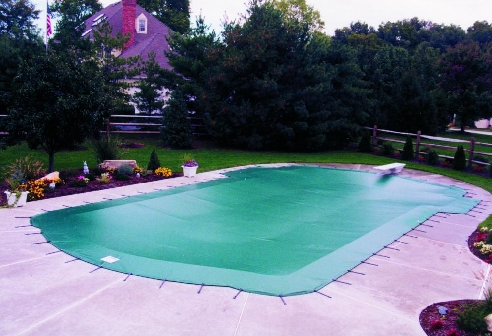 Cobertor de invierno para piscinas verde/crema