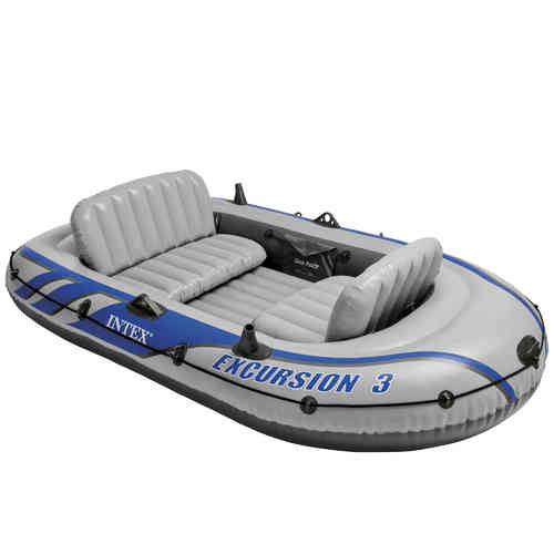 Excursion boat for 3 people
