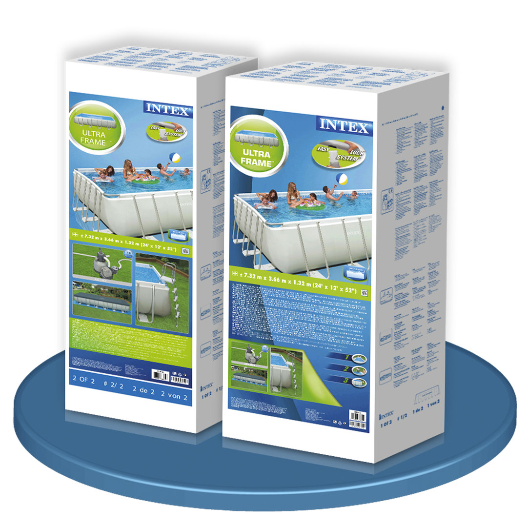 Ultra Frame Pool 732x366x132cm Removable Pools