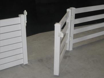 Puerta para valla de PVC