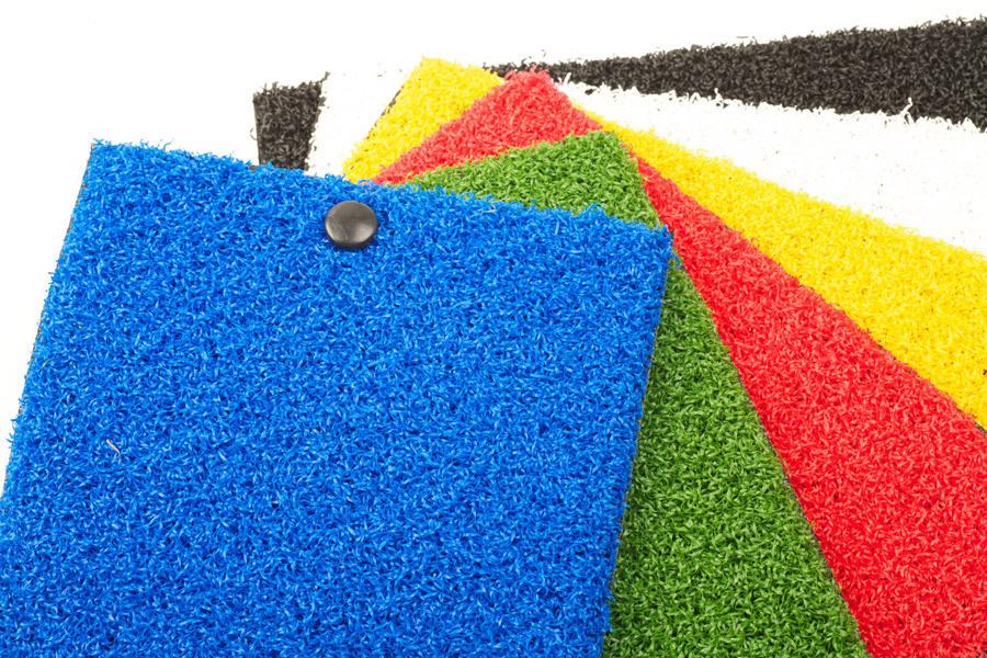 Césped artificial de colores