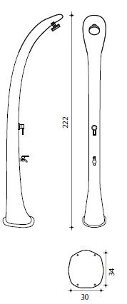 Ducha Solar Cobra de 32 L