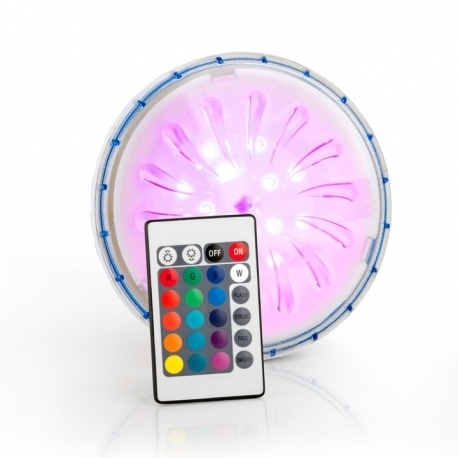 Foco LED RGB para piscinas de acero