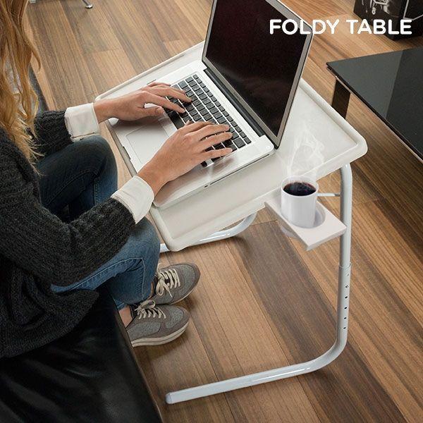 Mesa Plegable con posavasos FoldyTable