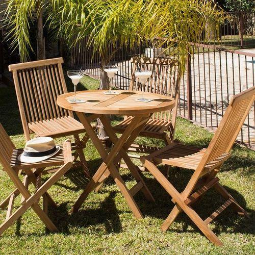 Conjunto de mesa con 4 sillas Craftenwood