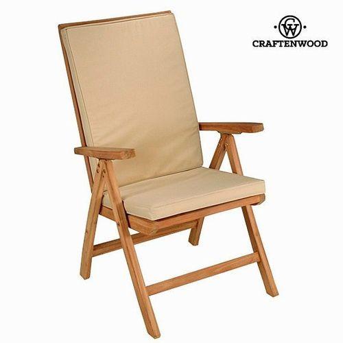 Silla teca natural reclinable Craftenwood