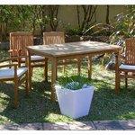 Mesa de teca con 4 sillones by Craftenwood