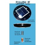 Copper central electrode for solar disinfection
