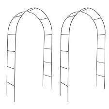 Arco de jardin para plantas trepadoras, 2 unidades