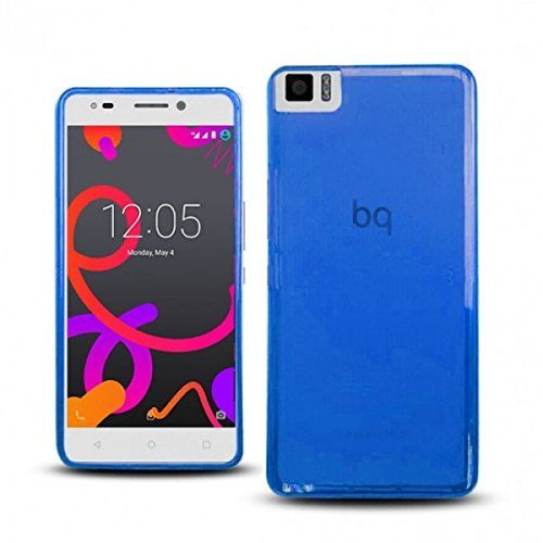 Funda bq Aquaris M4.5 Gel azul