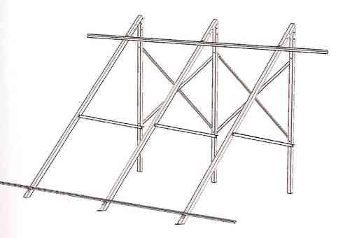 Soporte para superficie plana para 1 colector