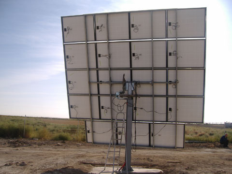 Solar tracker with 20 m2 of modular area
