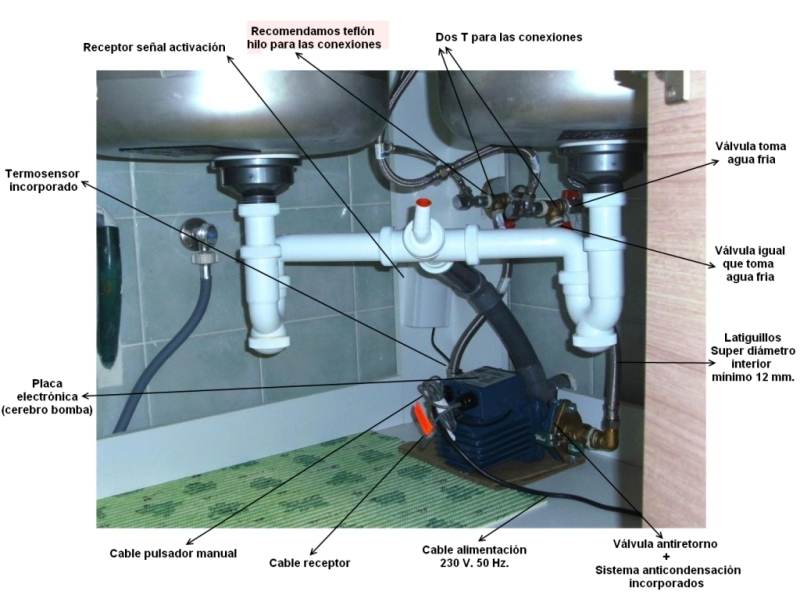 Sistema de ahorro de agua caliente
