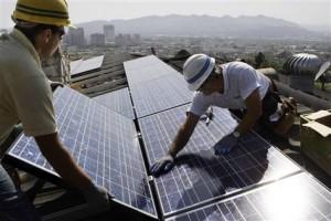 Montaje de campos solares