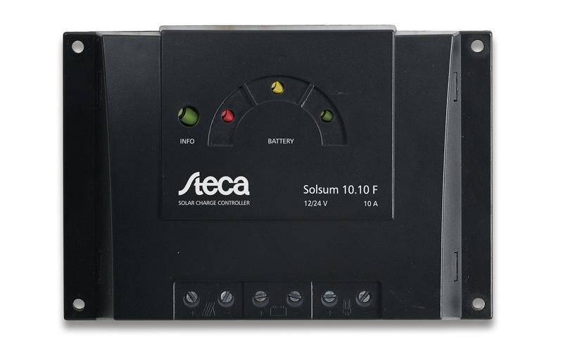 Regulador Steca de 8 amperios 12/24V Solsum 8.8