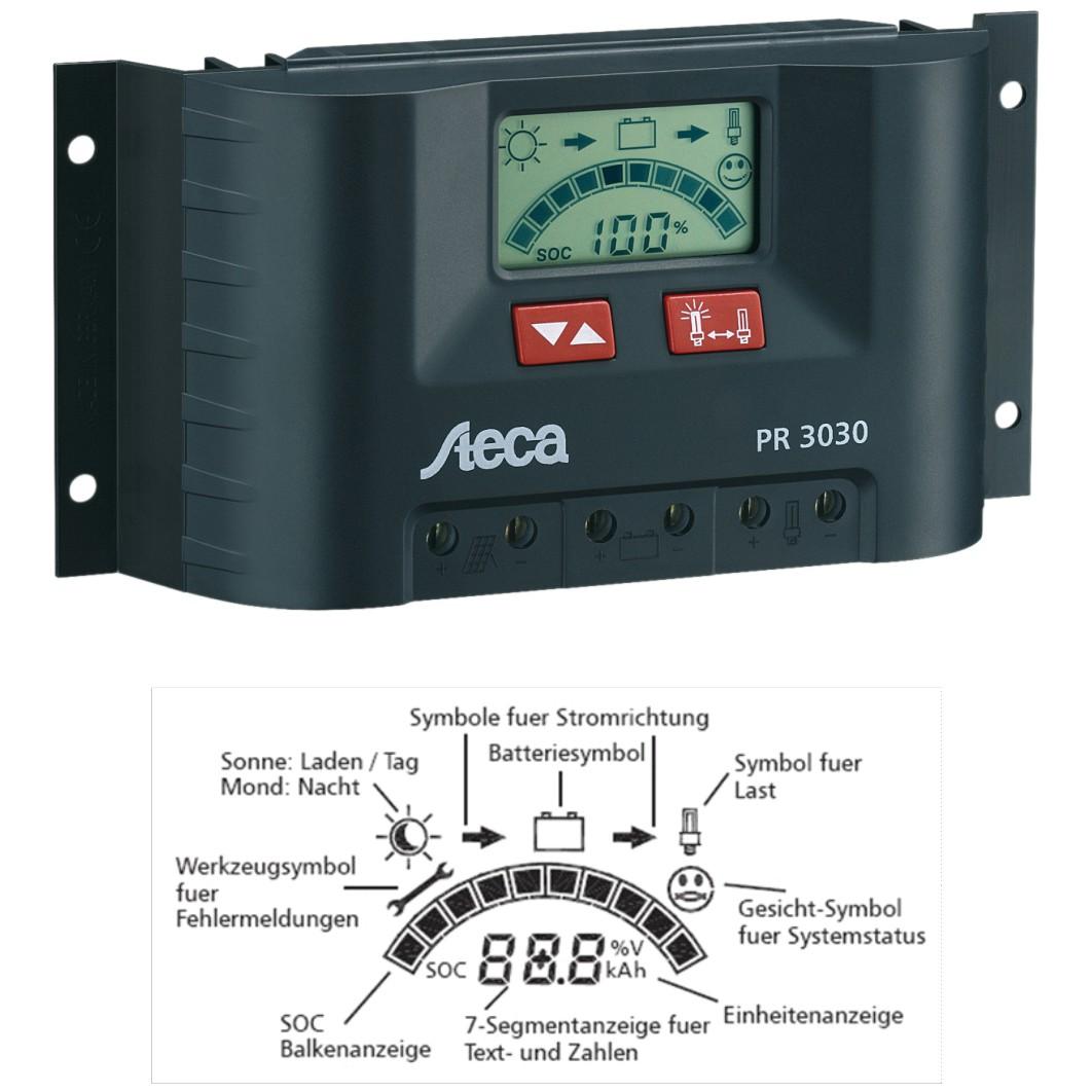 Regulador Steca de 20 amperios 12/24V PR2020