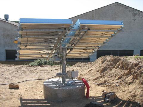 Solar tracker of 9 m2