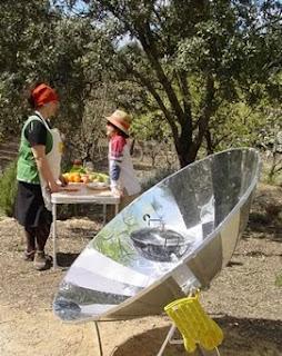 Cocina solar con reflector parabólico de 1,8 m2