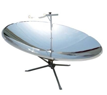 Parabolic solar cooker with 1.8 m2