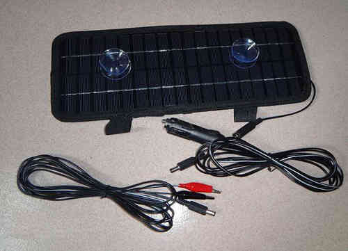 Solar Maintenance vehicle batteries